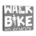 Bicycle Walk Bike School Sign Grey Canvas 14  x 11  View1