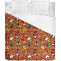 Wine Cheede Fruit Purple Yellow Orange Duvet Cover (california King Size) by Alisyart