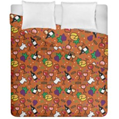 Wine Cheede Fruit Purple Yellow Orange Duvet Cover Double Side (california King Size) by Alisyart