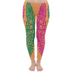 Brian Pink Green Orange Smart Classic Winter Leggings