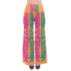 Brian Pink Green Orange Smart Pants by Alisyart