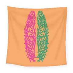 Brian Pink Green Orange Smart Square Tapestry (large) by Alisyart
