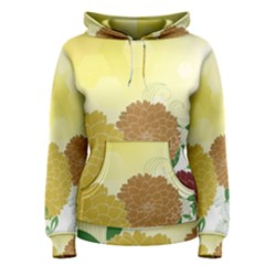 Abstract Flowers Sunflower Gold Red Brown Green Floral Leaf Frame Women s Pullover Hoodie