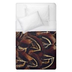 Feathers Bird Black Duvet Cover (single Size) by Simbadda