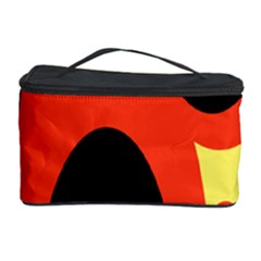 Circle Eye Black Red Yellow Cosmetic Storage Case by Alisyart