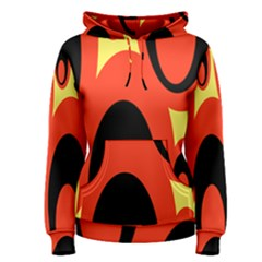 Circle Eye Black Red Yellow Women s Pullover Hoodie