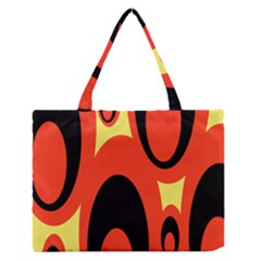 Circle Eye Black Red Yellow Medium Zipper Tote Bag by Alisyart