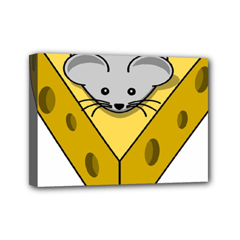 Cheese Mose Yellow Grey Mini Canvas 7  X 5
