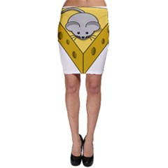 Cheese Mose Yellow Grey Bodycon Skirt
