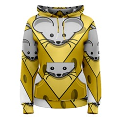 Cheese Mose Yellow Grey Women s Pullover Hoodie