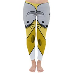 Cheese Mose Yellow Grey Classic Winter Leggings