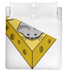 Cheese Mose Yellow Grey Duvet Cover (queen Size) by Alisyart