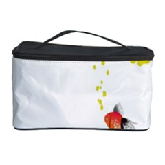 Fish Underwater Yellow White Cosmetic Storage Case by Simbadda