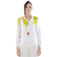 Fish Underwater Yellow White Wind Breaker (women) by Simbadda