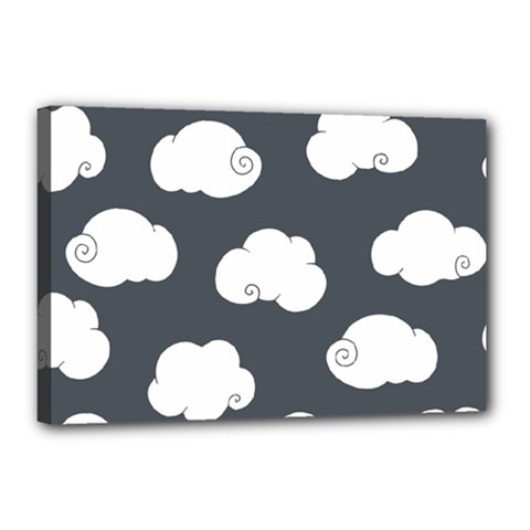 Cloud White Gray Sky Canvas 18  X 12  by Alisyart