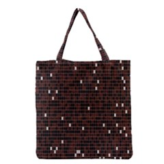 Cubes Small Background Grocery Tote Bag by Simbadda