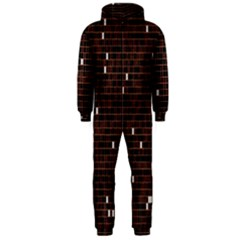 Cubes Small Background Hooded Jumpsuit (men)