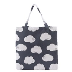 Cloud White Gray Sky Grocery Tote Bag