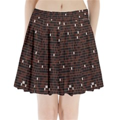 Cubes Small Background Pleated Mini Skirt