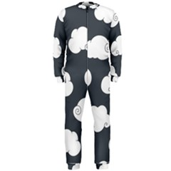 Cloud White Gray Sky Onepiece Jumpsuit (men)  by Alisyart