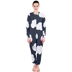 Cloud White Gray Sky Onepiece Jumpsuit (ladies)