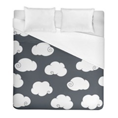 Cloud White Gray Sky Duvet Cover (full/ Double Size) by Alisyart