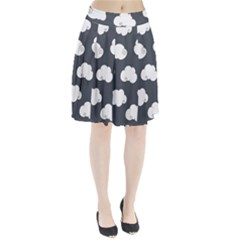 Cloud White Gray Sky Pleated Skirt by Alisyart