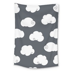Cloud White Gray Sky Large Tapestry by Alisyart