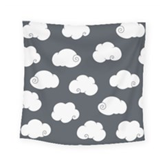 Cloud White Gray Sky Square Tapestry (small) by Alisyart