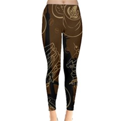 Coffe Break Cake Brown Sweet Original Leggings  by Alisyart