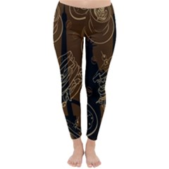 Coffe Break Cake Brown Sweet Original Classic Winter Leggings