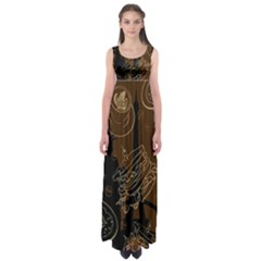 Coffe Break Cake Brown Sweet Original Empire Waist Maxi Dress