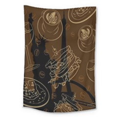 Coffe Break Cake Brown Sweet Original Large Tapestry