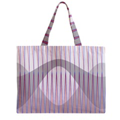 Crease Patterns Large Vases Blue Red Orange White Zipper Mini Tote Bag by Alisyart