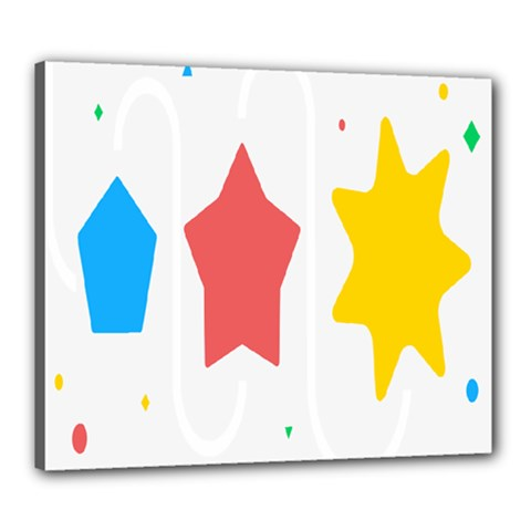 Evolution Jumsoft Star Canvas 24  X 20  by Alisyart