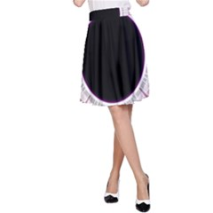 Circle Border Hole Black Red White Space A Line Skirt