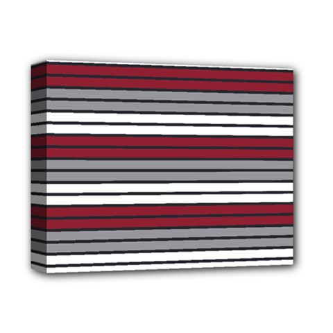 Fabric Line Red Grey White Wave Deluxe Canvas 14  X 11  by Alisyart