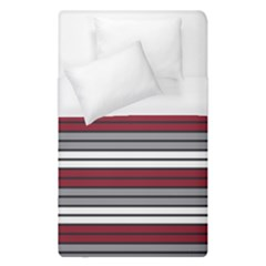 Fabric Line Red Grey White Wave Duvet Cover (single Size)