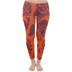 Enlarge Orange Purple Classic Winter Leggings