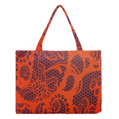 Enlarge Orange Purple Medium Tote Bag by Alisyart