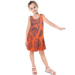 Enlarge Orange Purple Kids  Sleeveless Dress by Alisyart