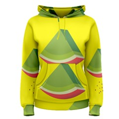 Fruit Melon Sweet Yellow Green White Red Women s Pullover Hoodie