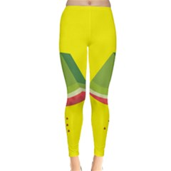 Fruit Melon Sweet Yellow Green White Red Classic Winter Leggings