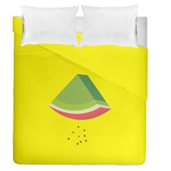 Fruit Melon Sweet Yellow Green White Red Duvet Cover Double Side (queen Size) by Alisyart