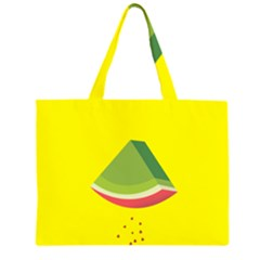 Fruit Melon Sweet Yellow Green White Red Zipper Large Tote Bag by Alisyart