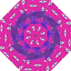 Eye Purple Pink Hook Handle Umbrellas (large) by Alisyart