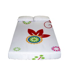 Floral Flower Rose Star Fitted Sheet (full/ Double Size)