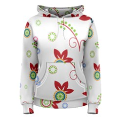 Floral Flower Rose Star Women s Pullover Hoodie