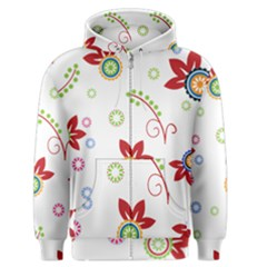 Floral Flower Rose Star Men s Zipper Hoodie