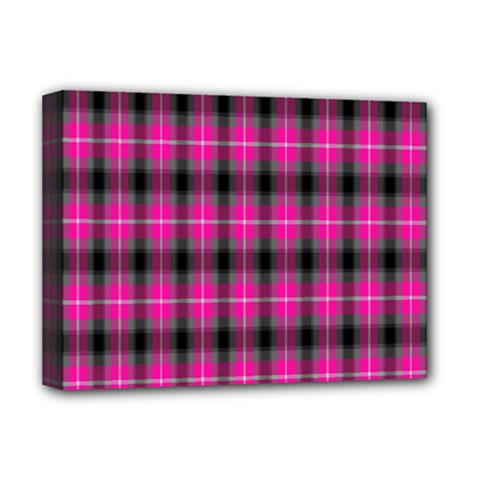 Cell Background Pink Surface Deluxe Canvas 16  X 12   by Simbadda